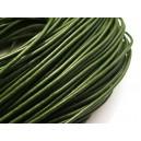 (1 metru) Snur piele naturala verde olive 2mm