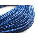 (1 metru) Snur piele naturala albastru intens 1.5mm