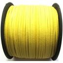 (1 metru) Snur faux suede galben lamaie 3mm