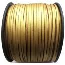 (1 metru) Snur faux suede auriu antic imitatie piele 3mm