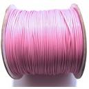 SPOL1mm-24 - (1 metru) Snur poliester cerat roz 1mm