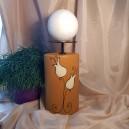 UNICAT - XCER09 - Suport lumanare ceramica mustar cu lalele 31*15*10cm