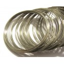 SMB04 - (1 spira) Sarma memorie bratari argintiu inchis 6.5cm*0.5mm
