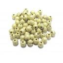MAS6mm-16 - (10 buc.) Margele acril stardust verde foarte pal sfere 6mm
