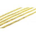 LAU01 - (1 metru) Lant auriu 2*1mm - zale plate rotunde
