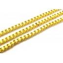 LAU05 - (1 metru) Lant auriu 3.2*3.2mm - zale patrate