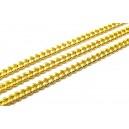 LAU08 - (1 metru) Lant auriu 4.5*3*1mm - zale rasucite plate