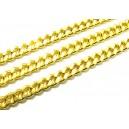 LAU12 - (1 metru) Lant auriu 8*6.5*1.8mm - zale rasucite plate