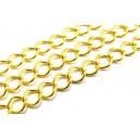 LAU13 - (1 metru) Lant auriu 9*7*1.5mm - zale romb