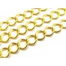 LAU14 - (1 metru) Lant auriu 10.5*8*1.4 - zale romb