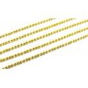 LAU17 - (1 metru) Lant cu bile auriu 1.5mm