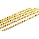 LAU18 - (1 metru) Lant cu bile auriu 2.4mm