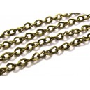 LB31 - (1 metru) Lant bronz antic 6.5*4.5*1mm - zale rasucite