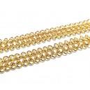 LD14 - (0.50 metri) - Lant decorativ impletit auriu 12mm