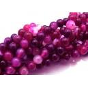 PSE29 - Striped agate roz fucsia sfere 6mm