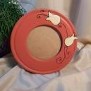 UNICAT - XCER50 - Rama foto ceramica rosu indian cu lalele 22.5cm