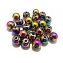 Hematit multicolor AB sfere 10mm
