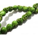 Howlit de sinteza skull verde 9*7.5mm