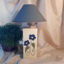 UNICAT - XCER32A - Veioza ceramica flori albastre 26*11*11cm