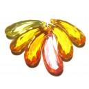 DISPONIBIL 1 SET CU 6 BUCATI - ACR17A - Pandantiv acril fatetat diverse culori 36*12.5mm