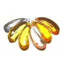 DISPONIBIL 1 SET CU 6 BUCATI - ACR17B - Pandantiv acril fatetat diverse culori 36*12.5mm