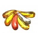 DISPONIBIL 1 SET CU 6 BUCATI - ACR17C - Pandantiv acril fatetat diverse culori 36*12.5mm