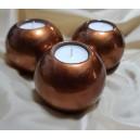 Suport lumanare ceramica cupru metalizat 8*4.5cm
