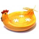 DISPONIBIL 2 BUCATI - Platou gainusa portocaliu pal 15*7cm