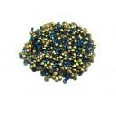 STR2.3-2.4mm - (10 buc.) Strasuri conice cristale verde turcoaz 2.3-2.4mm