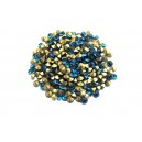 STR2.4-2.5mm - (10 buc.) Strasuri conice cristale verde turcoaz 2.4-2.5mm