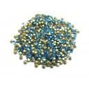 STR2.4-2.5mm - (10 buc.) Strasuri conice cristale albastru turcoaz 2.4-2.5mm