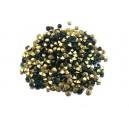 STR2.7-2.8mm - (10  buc.) Strasuri conice cristale verde smarald 2.7-2.8mm