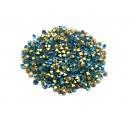 STR2.7-2.8mm - (10 buc.) Strasuri conice cristale albastru turcoaz 2.7-2.8mm