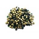 STR3.8-4mm - (10 buc.) Strasuri conice cristale verde smarald 3.8-4.0mm