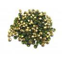 STR3.8-4mm - (10 buc.) Strasuri conice cristale olive 3.8-4.0mm