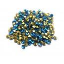 STR3.8-4mm - (10 buc.) Strasuri conice cristale albastru turcoaz 3.8-4.0mm