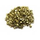 STR3.8-4mm - (10 buc.) Strasuri conice cristale galben pal 3.8-4.0mm