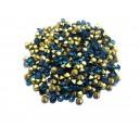 STR3.0-3.2mm - (10 buc.) Strasuri conice cristale verde turcoaz 3.0-3.2mm